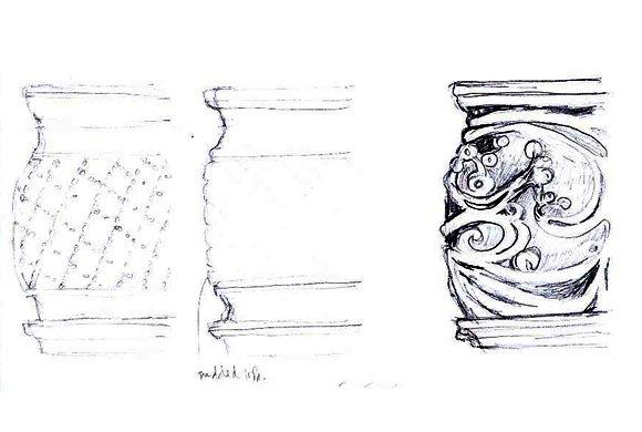 Concept Sketches, Ceramic Planters